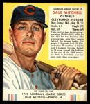 1953 Red Man #9 AL Dale Mitchell  Front Thumbnail