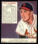 1952 Red Man #4 NL Cliff Chambers  Front Thumbnail
