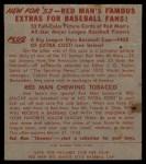 1953 Red Man #5 NL Roy Campanella  Back Thumbnail