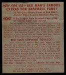 1953 Red Man #8 NL Sal Maglie  Back Thumbnail