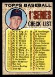 1968 Topps #67 C  -  Jim Kaat Checklist 1 Front Thumbnail
