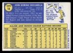 1970 Topps #19  John Boccabella  Back Thumbnail