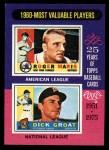1975 Topps Mini #198   -  Roger Maris / Dick Groat 1960 MVPs Front Thumbnail