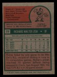 1975 Topps Mini #77  Richie Zisk  Back Thumbnail