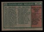 1975 Topps Mini #331   -  Frank Robinson Indians Team Checklist Back Thumbnail
