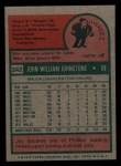 1975 Topps Mini #242  Jay Johnstone  Back Thumbnail
