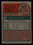 1975 Topps Mini #497  Jim Nettles  Back Thumbnail