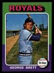 1975 Topps Mini #228  George Brett  Front Thumbnail