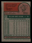 1975 Topps Mini #371  Gates Brown  Back Thumbnail