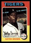 1975 Topps Mini #371  Gates Brown  Front Thumbnail