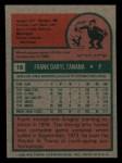 1975 Topps Mini #16  Frank Tanana  Back Thumbnail