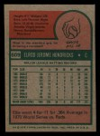 1975 Topps Mini #609  Elrod Hendricks  Back Thumbnail