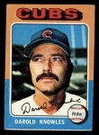 1975 Topps Mini #352  Darold Knowles  Front Thumbnail
