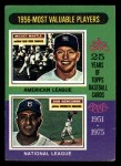1975 Topps Mini #194   -  Mickey Mantle / Don Newcombe 1956 MVPs Front Thumbnail