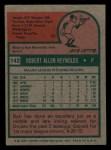 1975 Topps Mini #142  Bob Reynolds  Back Thumbnail