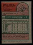1975 Topps Mini #351  Bob Boone  Back Thumbnail