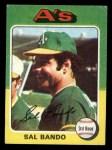 1975 Topps Mini #380  Sal Bando  Front Thumbnail