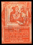 1957 Topps Isolation Booth #67   World's Tallest Boxer Back Thumbnail