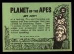 1969 Topps Planet of the Apes #32   Ape Jury Back Thumbnail