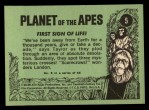 1969 Topps Planet of the Apes #5   First Sign Of Life Back Thumbnail