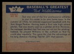 1959 Fleer #7   -  Ted Williams From Mound to Plate Back Thumbnail