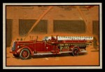 1953 Bowman Firefighters #15   Modern Hook and Ladder - Pirsch Front Thumbnail