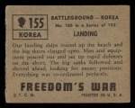 1950 Topps Freedoms War #155   Landing  Back Thumbnail