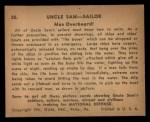 1941 Gum Inc Uncle Sam #20   Man Overboard Back Thumbnail