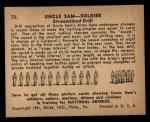 1941 Gum Inc Uncle Sam #73   Streamlined Drill Back Thumbnail