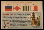 1955 Topps Rails & Sails #188   S.S. Caronia Back Thumbnail
