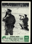 1966 Philadelphia Green Berets #42   Signal Shot Front Thumbnail