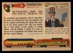 1955 Topps Rails & Sails #6   Camelback Locomotive Back Thumbnail