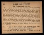 1941 Gum Inc Uncle Sam #52   Ski Troops And Patrols Back Thumbnail