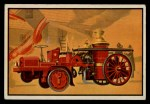 1953 Bowman Firefighters #17   Engine-Propelled Steam Fire Engine - Christie Front Thumbnail