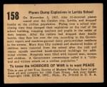 1938 Gum Inc. Horrors of War #158   Planes Dump Explosives in Lerida School Back Thumbnail