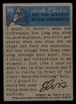 1956 Topps / Bubbles Inc Elvis Presley #16   Vacation Fun Back Thumbnail