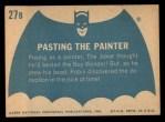 1966 Topps Batman Blue Bat Back #27   Pasting the Painter Back Thumbnail