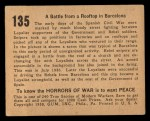 1938 Gum Inc. Horrors of War #135   Battle from Rooftop in Barcelona Back Thumbnail
