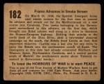 1938 Gum Inc. Horrors of War #182   Franco Advances in Smoke Screen Back Thumbnail