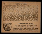 1940 Gum Inc. Superman #13   Teeth of Steel Back Thumbnail