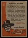 1958 Topps Zorro #51   Merciless Beating Back Thumbnail