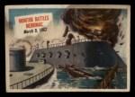 1954 Topps Scoop #7   Monitor Battles Merrimac  Front Thumbnail