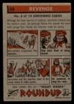 1956 Topps Round Up #66   -  Geronimo  Revenge Back Thumbnail