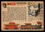1955 Topps Rails & Sails #33   First Consolidation Back Thumbnail