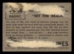 1953 Topps Fighting Marines #36   Hit The Beach Back Thumbnail