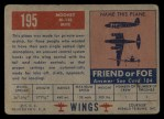 1952 Topps Wings #195   Mooney M-18L Mite Back Thumbnail