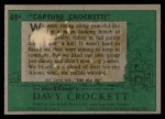 1956 Topps Davy Crockett Green Back #49   Capture Crockett Back Thumbnail