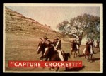 1956 Topps Davy Crockett Green Back #49   Capture Crockett Front Thumbnail