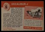 1954 Topps World on Wheels #6   Excalibur-J Back Thumbnail