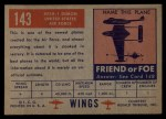 1952 Topps Wings #143   XF 3H-1 Demon Back Thumbnail